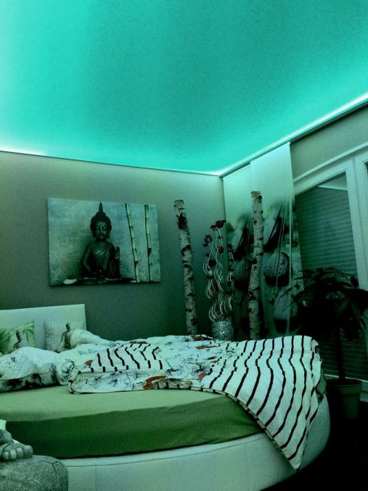 Spanndecke in einem Schlafzimmer in Pforzheim